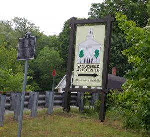 Arts Center sign
